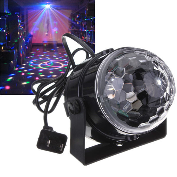New Arrival Mini RGB LED Crystal Magic Ball Stage Effect Lighting Lamp Party Disco Club DJ Light Show(China (Mainland))