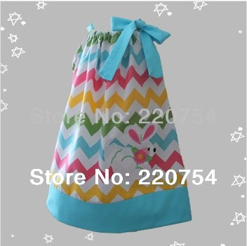 2014 New Chevron Easter pillowcase dress for baby girl Free shipping<br><br>Aliexpress