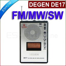DEGEN DE17 FM Stereo MW SW LCD Radio DSP World Band Receiver Alarm Quarz Clock A0904A eshow