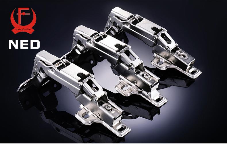 4PCS NED V165 Full Size 175deg Hydraulic Buffer Hinge Rustless Iron Buffering Soft Close Cabinet Cupboard Furniture Door Hinges(China (Mainland))