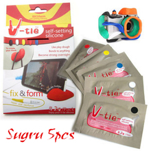 5pcs 7g/pack V-tie Heatproof DIY Fix & Form Self-Setting Sugru Silicone Silica Gel Adhesive Sealant For Repair and Reinforce(China (Mainland))