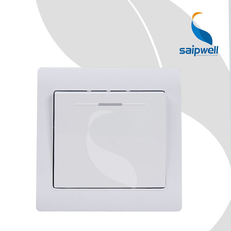 250V 10A Wall Plastic White Switch,1 Gang 1 Way Classical Style Light Switch Panel SP-E20-01<br><br>Aliexpress