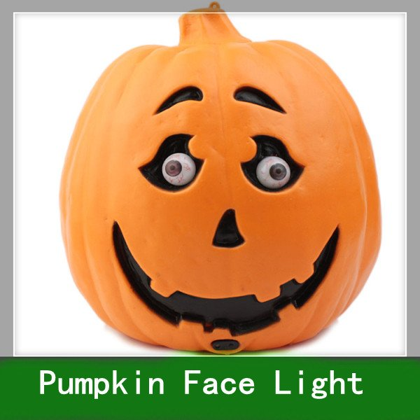 1pcs Free Shipping Halloween pumpkins ghost face festival light, acoustic control masque pumpkin lamp(China (Mainland))