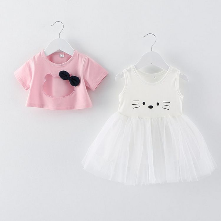 Hello Kitty Dress For Baby Girl Summer 2016 Kids Clothes Lovely Tutu Dresses Clothing Prom Girls Princess Dress reine des neiges(China (Mainland))