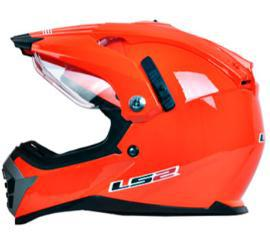 Double lens off road motorcycle helmet LS2 professional multi function cross helmet MX 455(China (Mainland))
