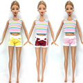 NK One Set Doll Clothes Modern outfits Informal  Fits For Barbie Doll Finest Present Child Toy Doll Equipment Little one Toy 014A
