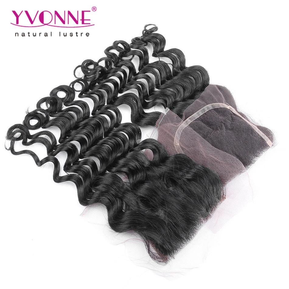 Loose Wave Peruvian Lace Closure,100% Virgin Human Hair Closure 4x4,Aliexpress Yvonne Hair Products,Natural Color(China (Mainland))