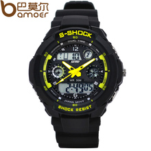 S Shock Military Skmei Watch For Men 2times Zone Back Light Quartz Chronograph Silicone Sport Wristwatch