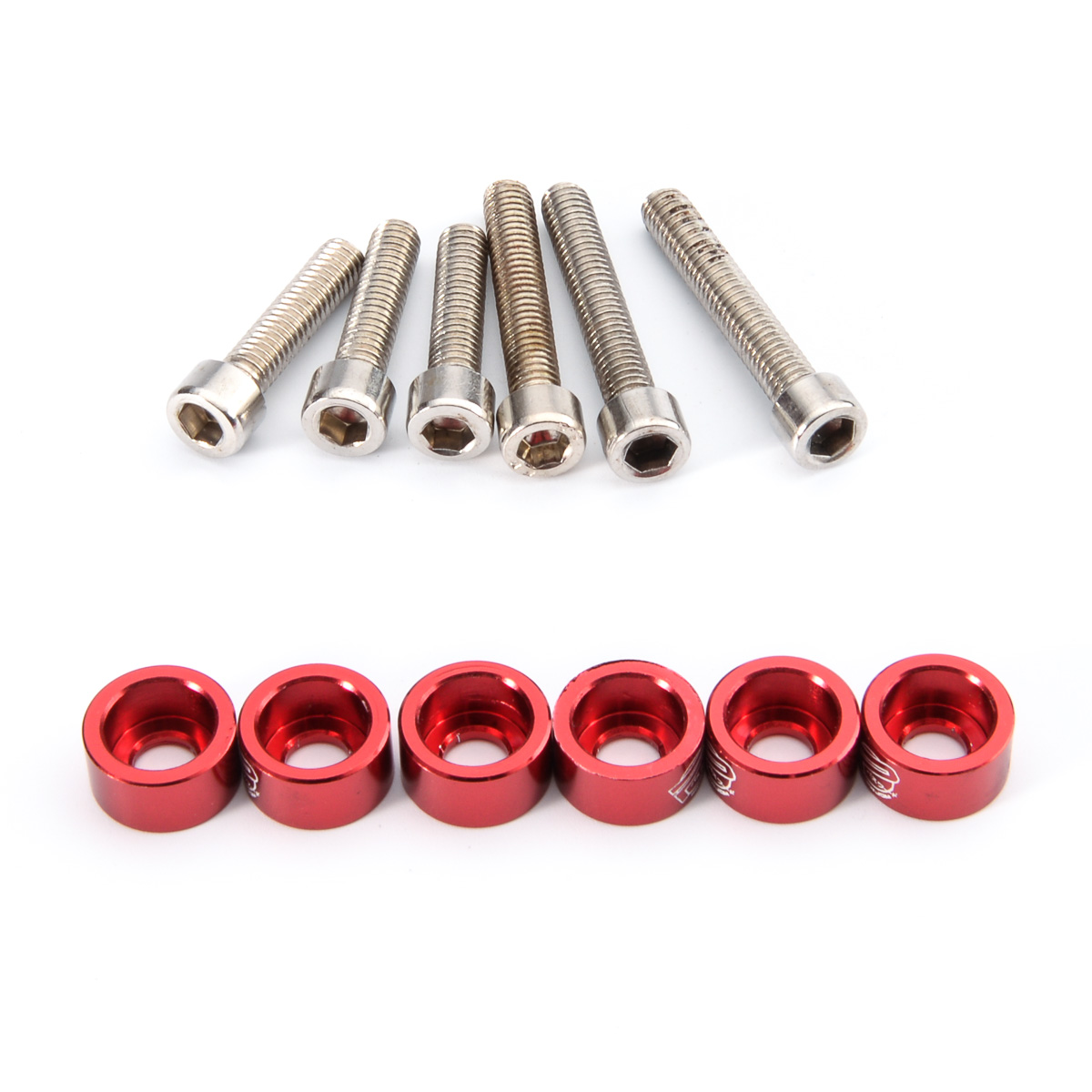 High Quality 6pcs lot JDM Gasket Screw Inlet pipe Engine Red Parts Compartment accessories For Honda