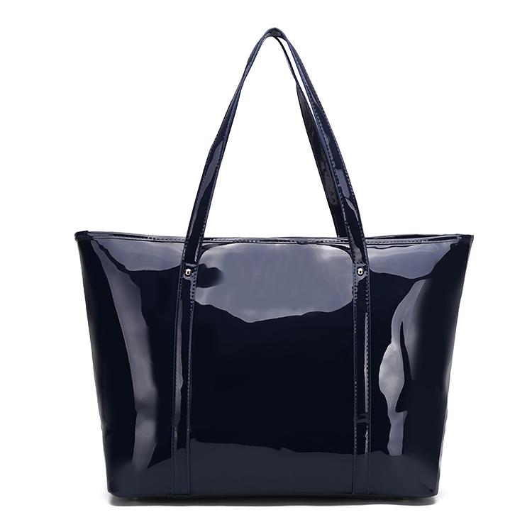bolsos mujer 2015 hot women patent leather tote bag casual shopping bag women shoulder bags handbag desigual bags(China (Mainland))