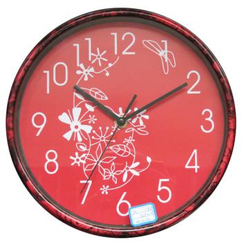 Quality wall clock water transfer printing marble wall clock 10 circle wall clock mute chinese style