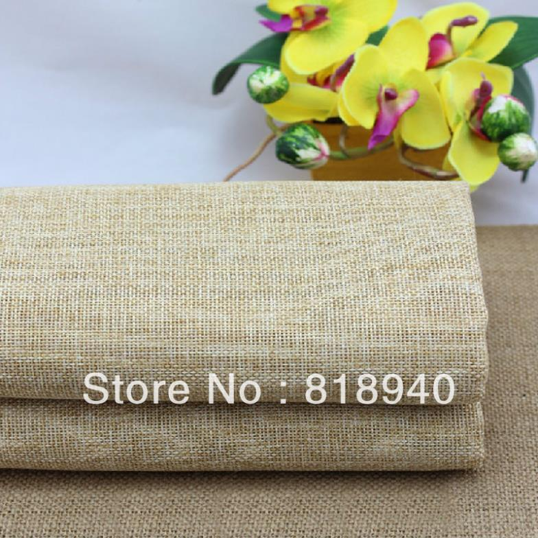 Linen Look Fabric Flax DIY Plain Upholstery Craft Vintage Decoration By Meter 048-894(China (Mainland))