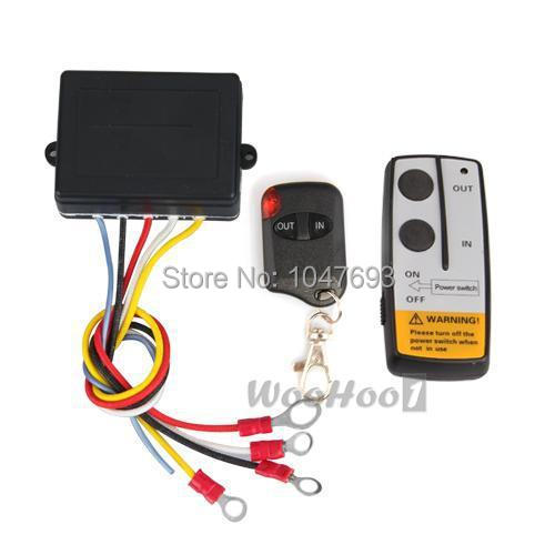 12V 50ft Winch Wireless Remote Control Set for Truck Jeep ATV Warn Ramsey Keyring remote(China (Mainland))