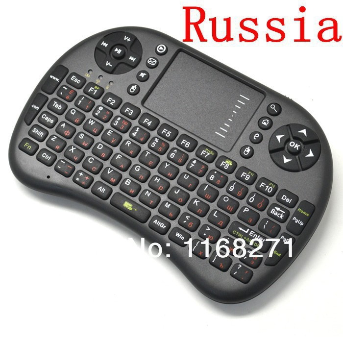 Fly Air Mouse Rii i8 Russian Keyboard Remote Control touchpad keyboard for TV BOX PC Laptop Tablet Mini PC(China (Mainland))