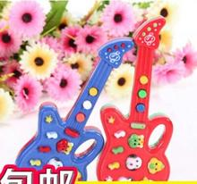 Popular toys Children's educational toys Children's electronic music guitar 12 nursery rhyme Free Shipping(China (Mainland))