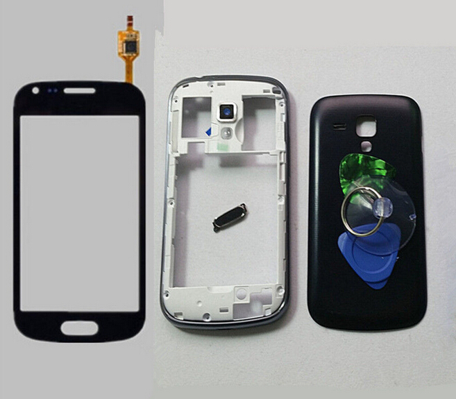 Black Housing Case Cover Battery LCD Touch Screen Digitizer Glass Replacement Samsung Galaxy Duos 7562 Free Tools - Qian xian 008 store