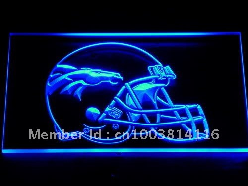 237-b Denver Broncos Helmet Bar Pub LED Neon Light Sign Wholesale Dropshipping On/ Off Switch 7 colors DHL(China (Mainland))
