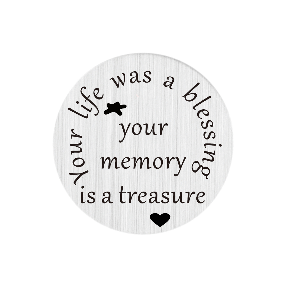 Free shipping 22mm Stainless Steel floating charms your life was a blessing,your memory is a treasure floating plates(China (Mainland))