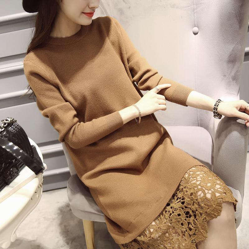 2016 winter women's luxurious brands blue geometric print sexy o neck sleeves stretch jersey silk dress knee length sheath dress(China (Mainland))