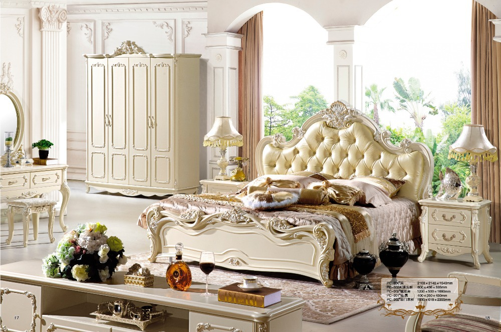 Antique Style French Furniture Elegant Bedroom Sets PC 005 In Beds