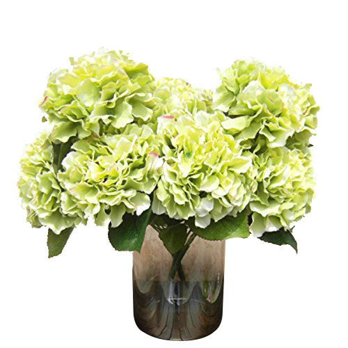 "Bestselling Artificial Hydrangea Flower 5 Big Heads Bouquet (Diameter 7"" each head) Green(China (Mainland))"