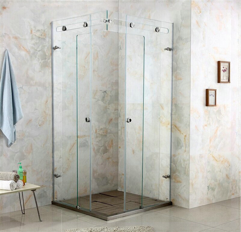 Luxury crystal glass shower room shower cabin shower glass door shower enclosure customize size wall mount sensor faucet(China (Mainland))