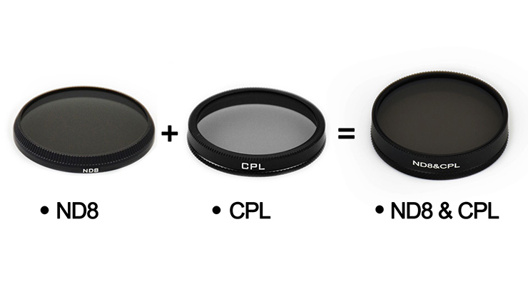ND8 Dimming + CPL Polarization Tow in One Multifunctional Filter for DJI OSMO Inspire 1 X3