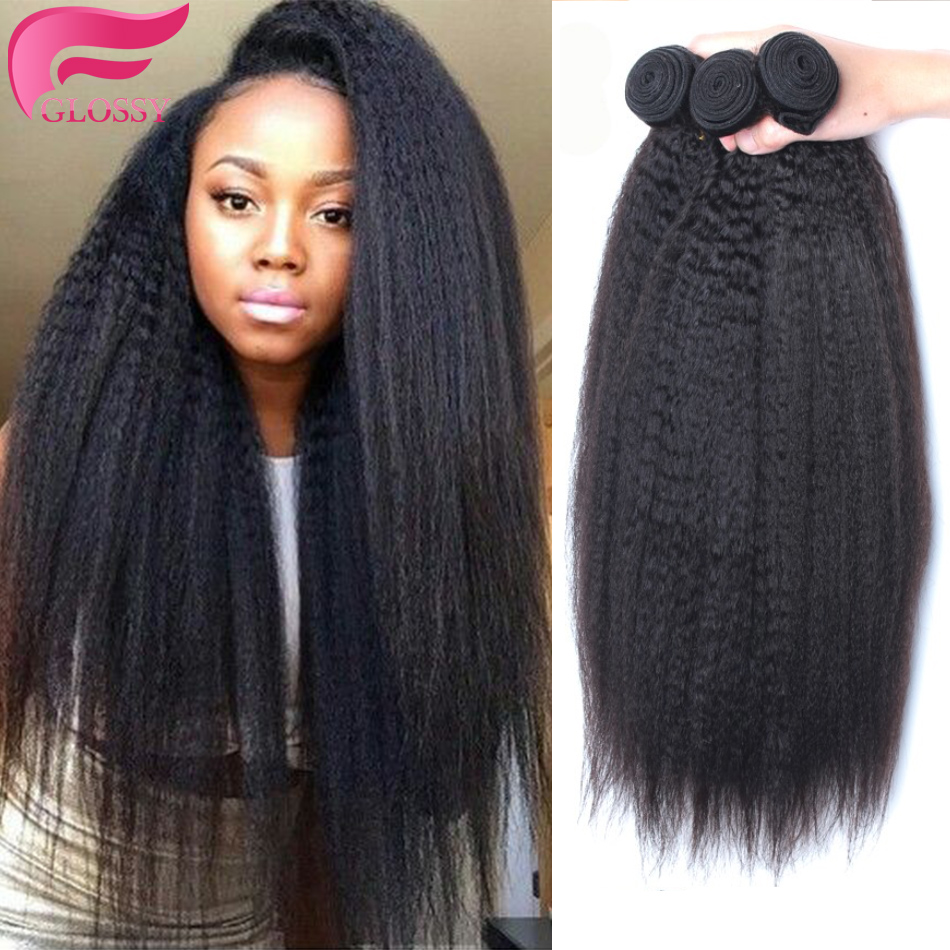 yaki human hair kinky straight brazilian coarse yaki virgin hair 3 pieces/lot italian yaki straight weave good cheap weave 300g