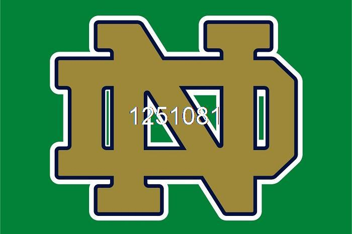 Notre Dame Fighting Irish Flag 3ft x 5ft Polyester NCAA Banner Flying Size No.4 144* 96cm QingQing Flag(China (Mainland))