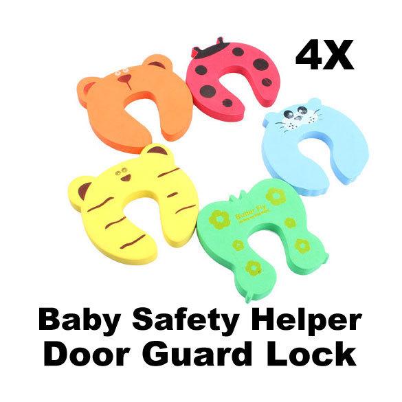 Детская безопасность помощник стопа двери пальцами щепотку гвардии замок 4 шт. W тд # т