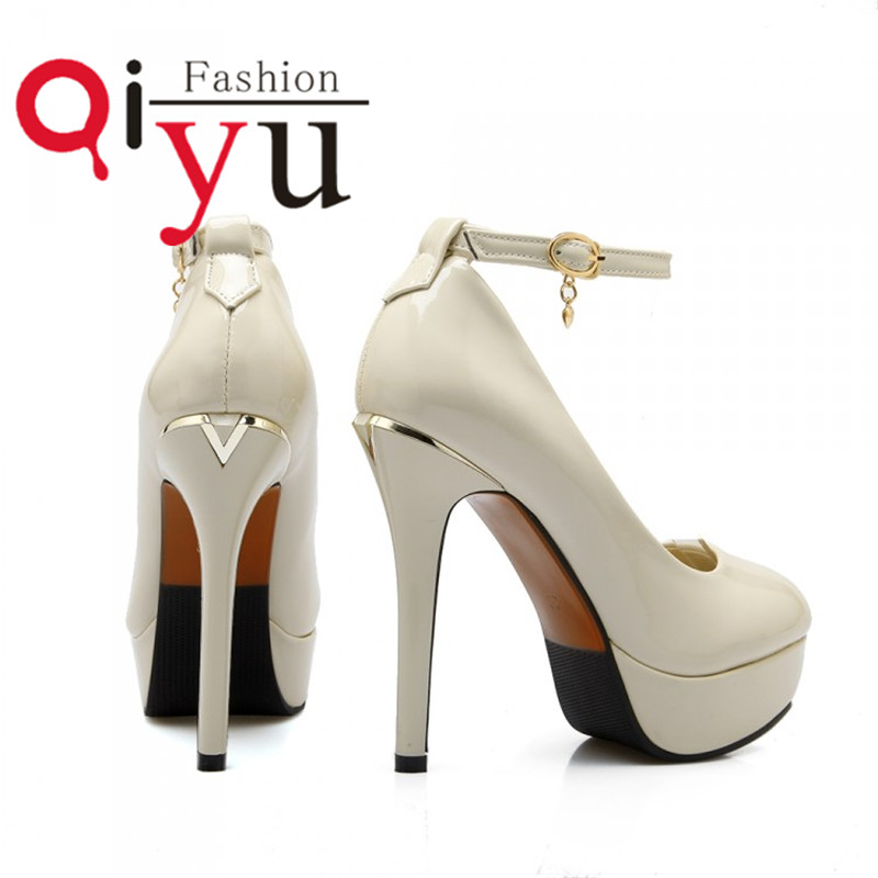 PU leather patent leather shoes womens fashion sexy high-heeled shoes free shipping color beige black red size 34-39<br><br>Aliexpress