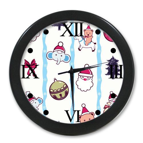 Original-Wall-Decor-Clock-Custom-Seamless-Pattern ...