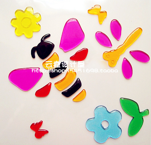 10 1 bees jelly stickers refrigerator soft paste glass tile furniture - Warmly Family store