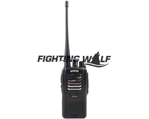 New Tactical Camping Outdoor Combat High Quality Waterproof FM Handheld Two-Way Radio Transceiver Interphone GYQ-6600 Black(China (Mainland))
