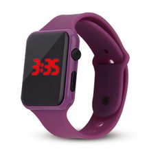 Mulher do esporte dos homens relógio led estudante luminoso casal adulto eletrônico digital relógio eletrônico hodinky digital relogio l58(China)