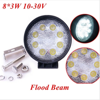 "2pcs/Lot CDD03 Car Work Light 60"" 8*3W Epsitar LED DC 10-30V 6000K Flood Beam Waterproof IP67 24W Work Lamp"