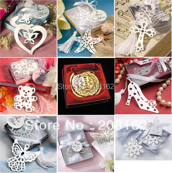 Creative Metal Bookmarks Refinement Stationeries For Books Kids Gifts Wedding Favors A Variety Of Styles Sent At Random(China (Mainland))