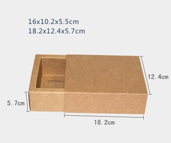 20pcs inner 16x10.2x5.5cm Gift box Retail brown Kraft Paper Drawer Box Gift Craft Power Bank Packaging Cardboard Boxestubes(China (Mainland))