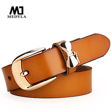 Big discount for Rushed Belts Vogue Joker Women's Genuine Leather Pin Buckle Strap Fashionable Cowhide Belt Female(China (Mainland))