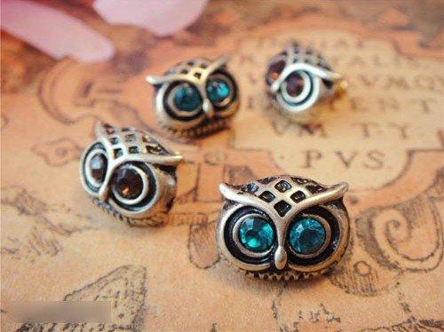 Fashion Hot Selling New Style Retro Silver Cute  Lovely Big Eye Owl Earrings E14<br><br>Aliexpress