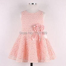Details about Elegent Kids Toddlers Girls Princess Party Flower Solid Lace Formal Dress Sz2-7Y(China (Mainland))