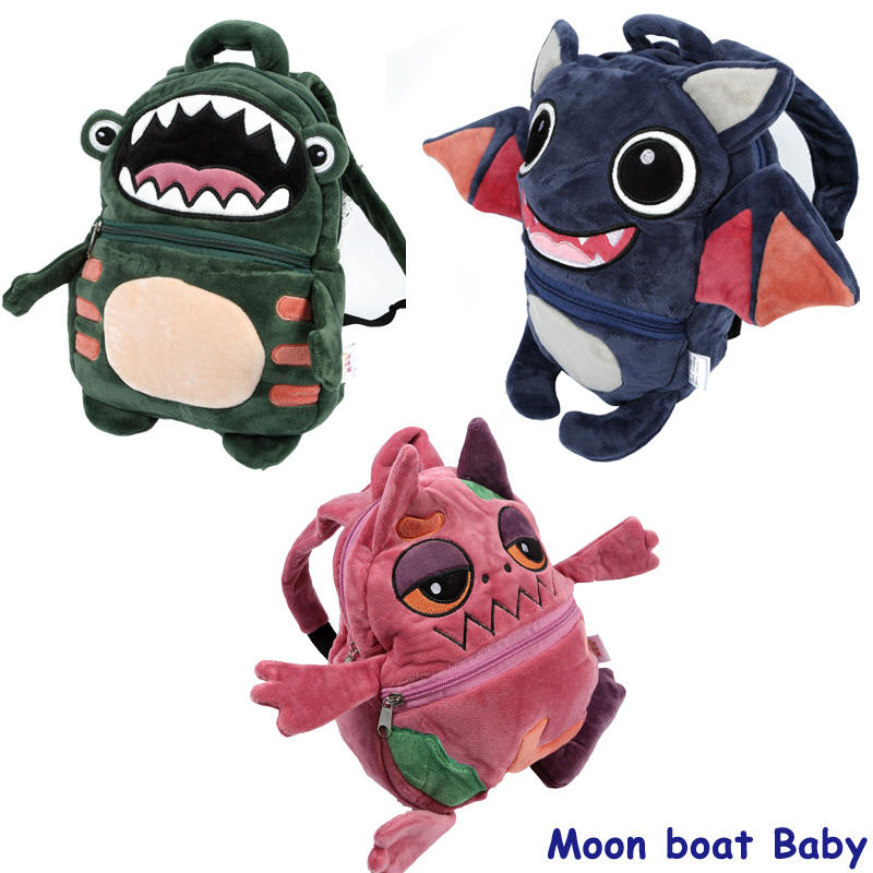2017New Cartoon Bag Soft Monster Children Backpack Cutely For Baby Bag For Girl Boy Bags kids Fashion Plush Backpack Mochila(China (Mainland))