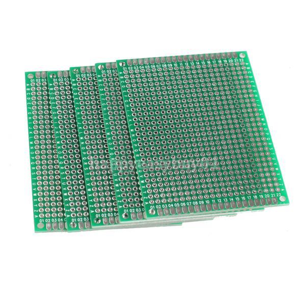 5pcs 6x8cm Double Side Prototype PCB Universal Printed Circuit Board H1E1