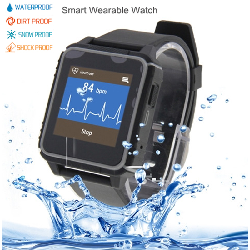 Waterproof Smart Sport Wrist Watch Phone GSM SIM Card Bluetooth Digital Wearable Outdoor Shockproof Dustproof for iPhone Android(China (Mainland))