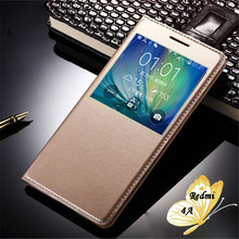 Buy Xiaomi Redmi 4A Case Luxury Open View Window Flip Stand Cover Xiaomi Redmi 4A Case PU Leather Phone Cases Protector for $3.03 in AliExpress store