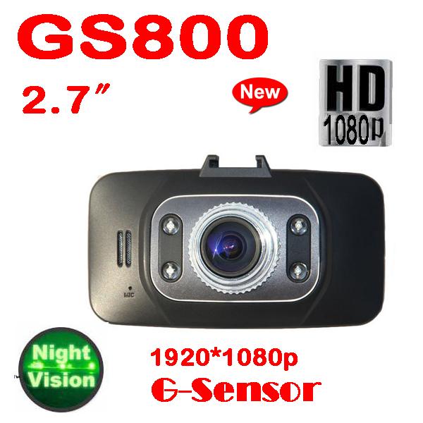 DHL или ems 10 шт. 2013 новый GS8000 HD 1920 x 1080 P 2.7 дюймов LCD г доставка-датчик микро-hdmi 30FPS ик ночного видения dvr