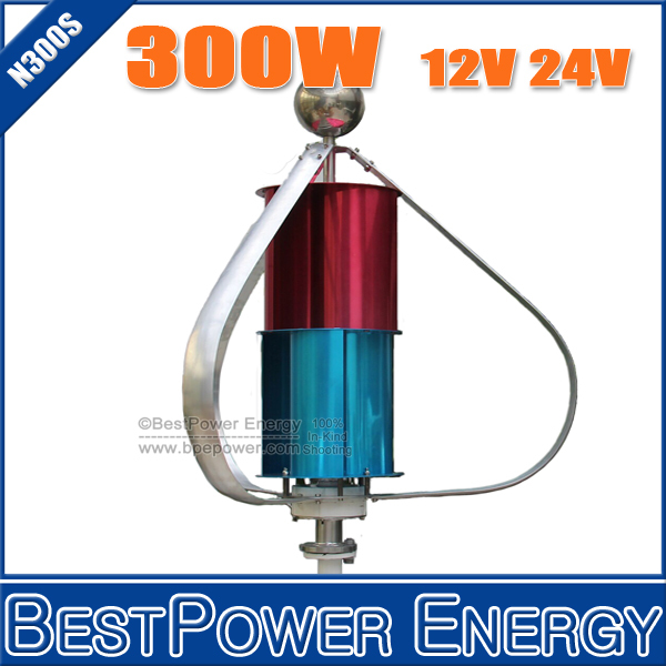 HOT SALE!! Max. Power 400W Vertical Axis Wind Generator Turbine, 12V 24V Small Wind Power Generators + 3 Years Warranty(China (Mainland))