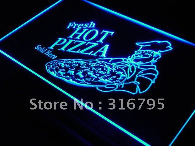 s023-b Fresh Hot Pizza Sold Here NEW LED Neon Light Sign On/Off Switch 7 Colors