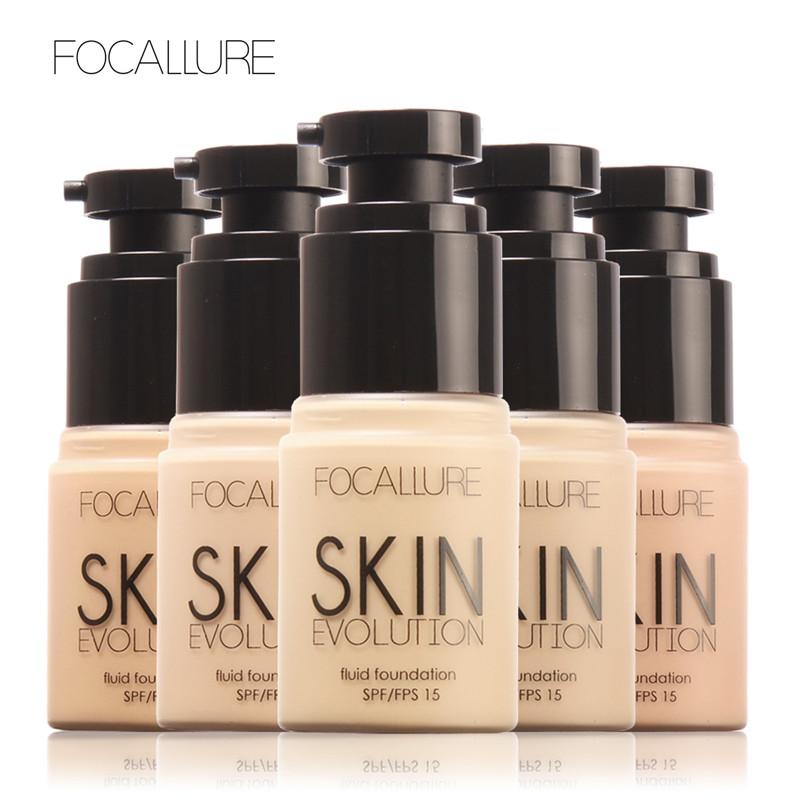 FOCALLURE Face Foundation Makeup Base Liquid Foundation BB Cream Concealer Whitening Moisturizer Oil-control Maquiagem SPF15(China (Mainland))