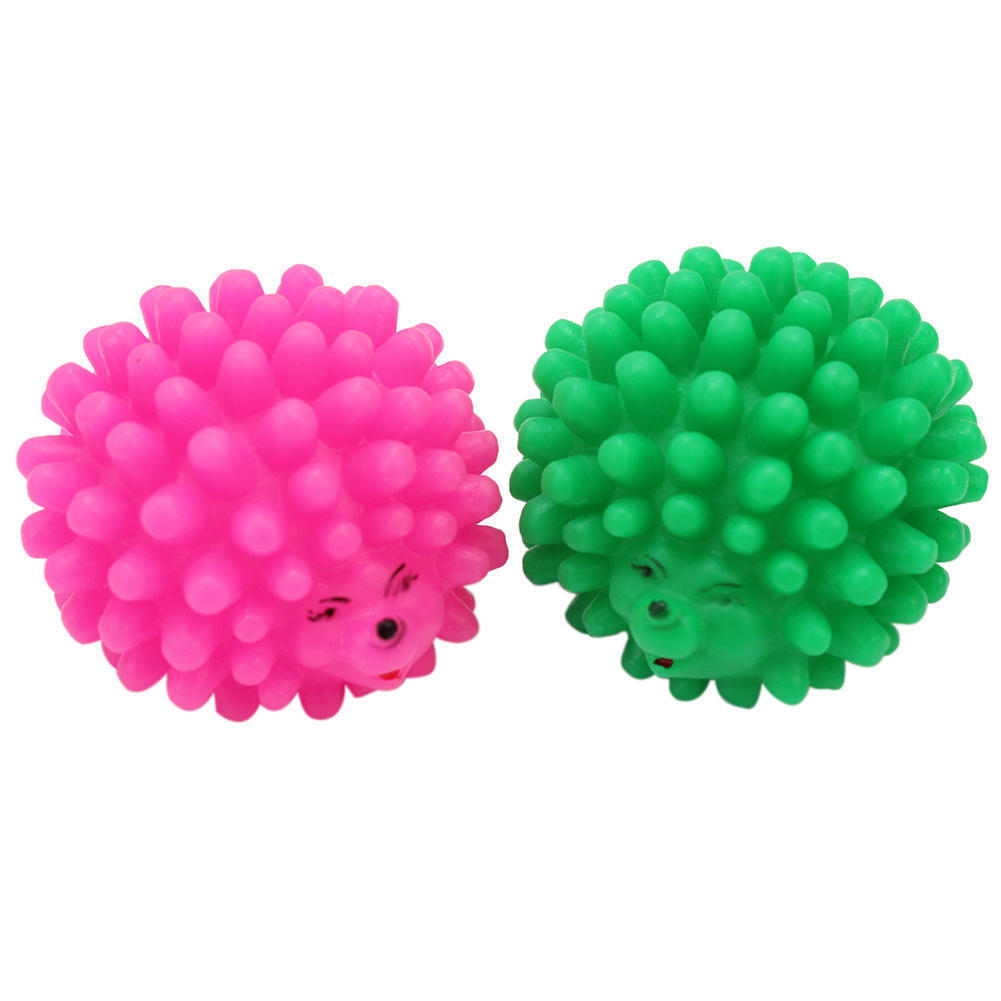 2pcs Pet Puppy Dog Mini Soft Rubber Hedgehog Shape Squeaky Chew Toy Squeaker Ball Sound Funny Playing Toys(China (Mainland))